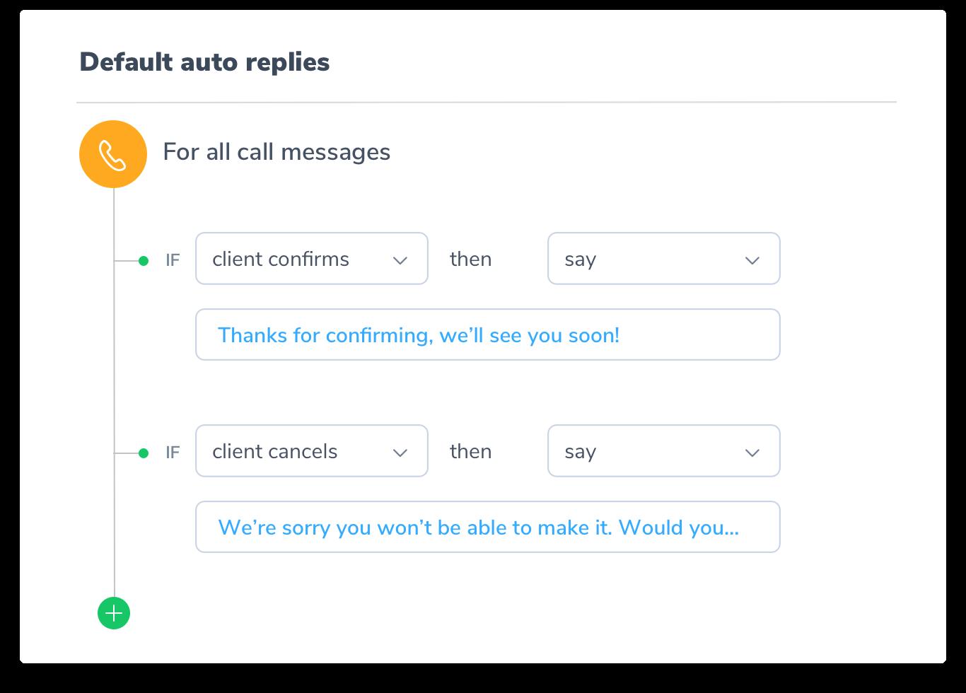 auto replies