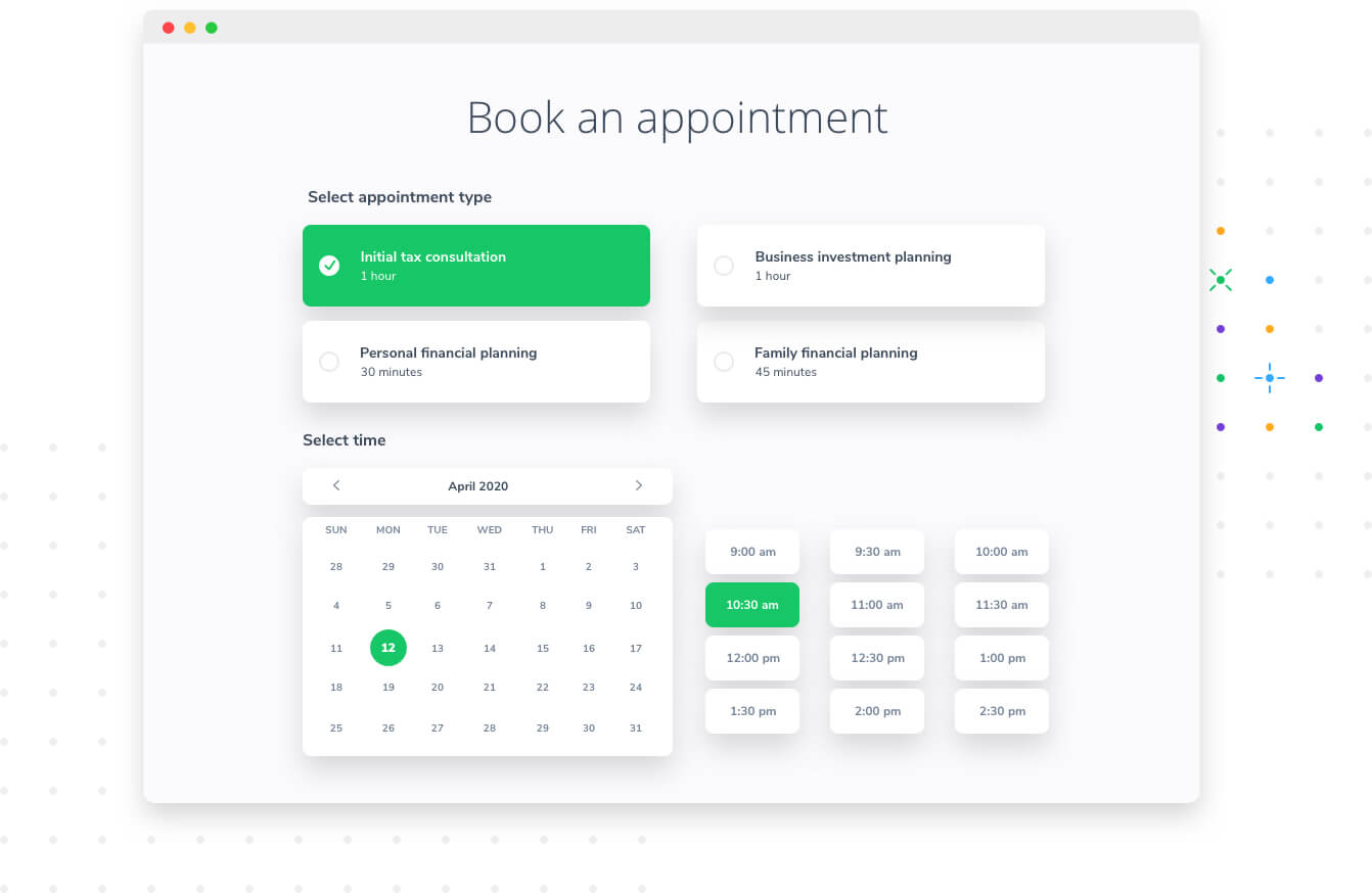 Book appointments with Apptoto