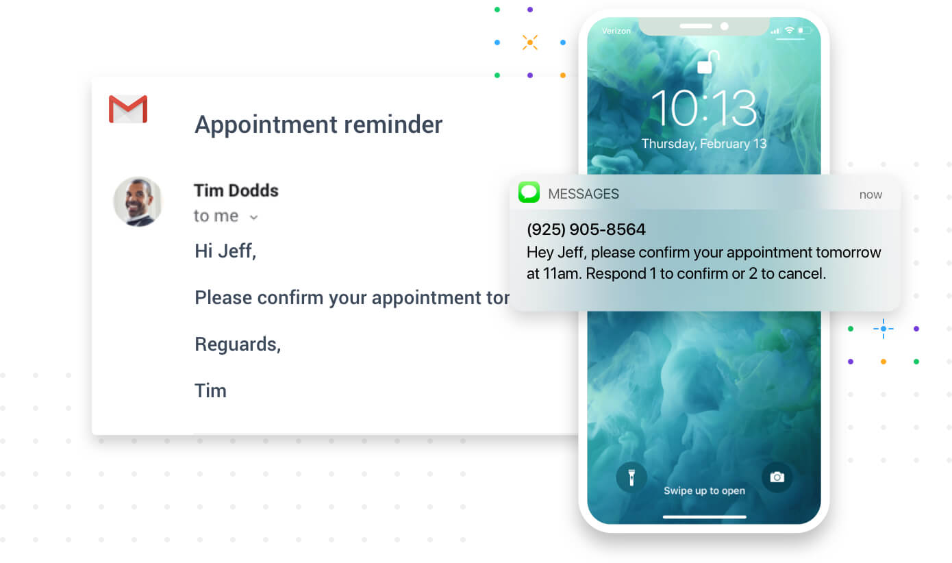 Reminders are sent